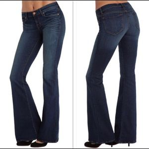 J Brand Babe Flare Bell Bottoms Jeans Classic Wash